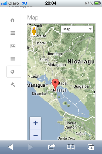 Propertyshelf Nicaragua MLS Listing Search on the Iphone 4 Property Satelite Map View